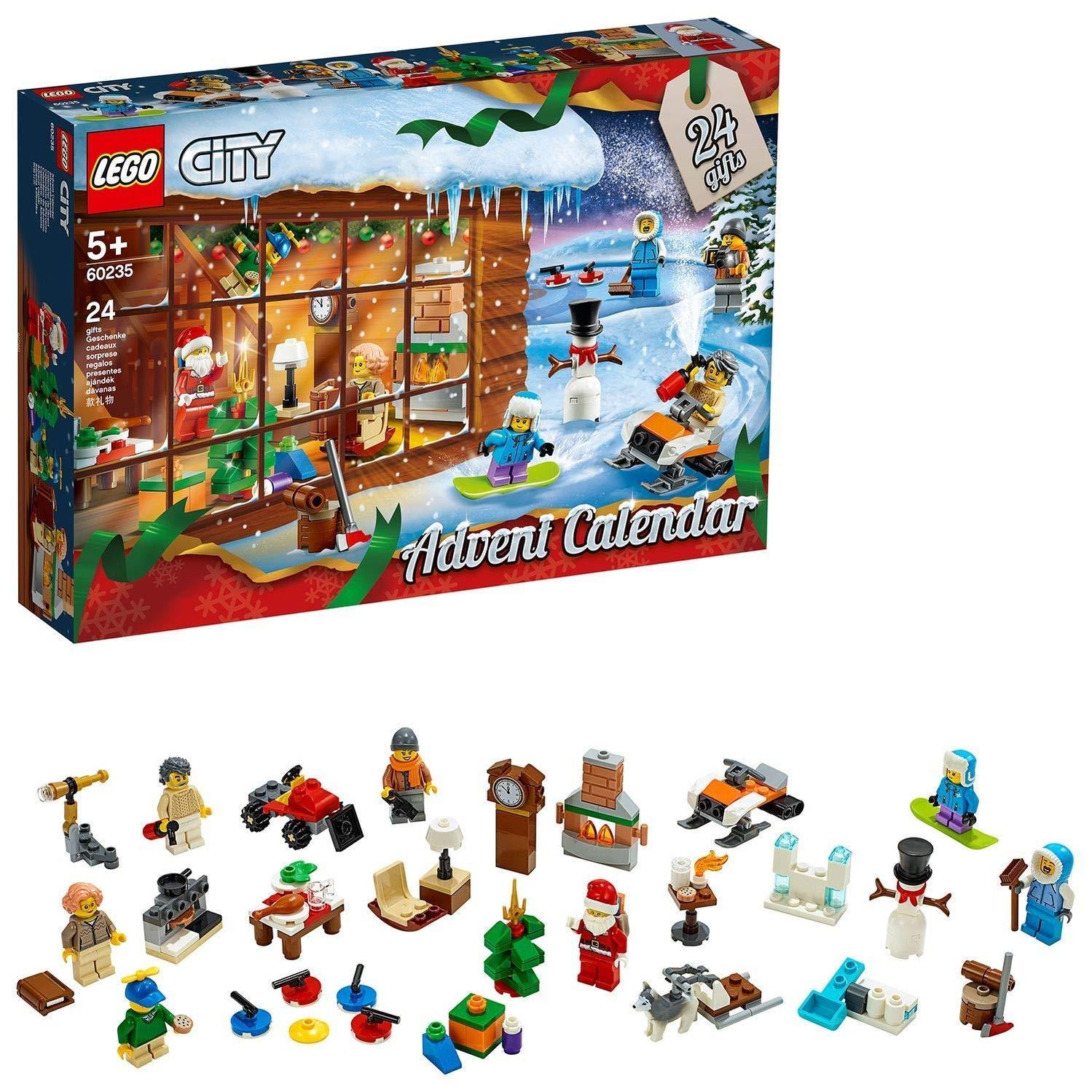 Calendrier De L Avent Lego City 2020.Lego City Le Calendrier De L Avent Lego City 5 Ans Et Plus Jeu De Construction 234 Pieces 60235