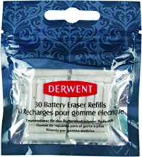 Derwent Replacement Erasers for Battery Operated Eraser - Pack of 30