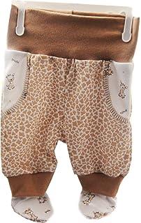 685aa8fed7 La Bortini Baby Hose mit Füßchen Schlupfhose mit Muster 50 56 62 68 74  Unisex Hosen