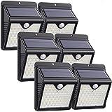 Luz Solar Exterior, [2020 Más Nuevo Modelo 6-Paquete 150 LED - 1000 Lumens] iPosible 180 °Iluminación Foco Solar con Sensor d