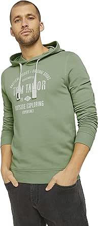TOM TAILOR Men's Print Hoodie Sweatshirt
