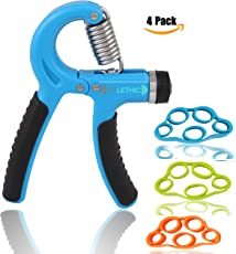 Fitlethic Unisex Adjustable 5-60Kg Hand Grip Strengthener (FL-Hand-Finger-Exerciser)