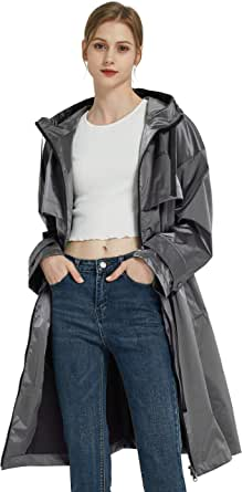 Orolay Donna Giacca a Vento di Media Lunghezza con Cintura