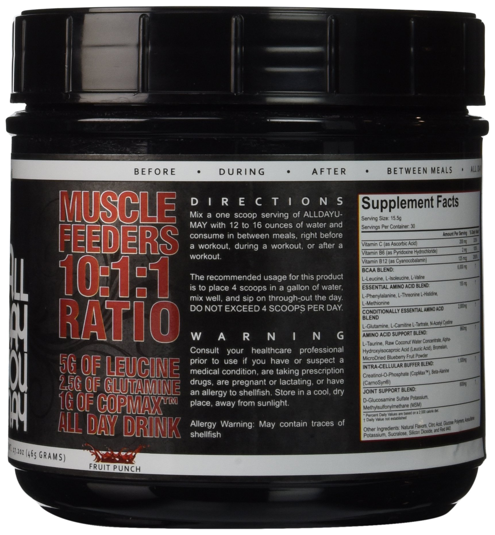 81CUxi6LEqL - 5% Nutrition - Rich Piana All Day You May, Fruit Punch, PER1001/462/101