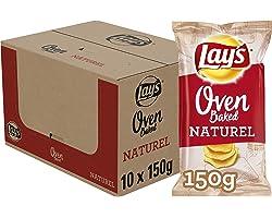 Lay's Oven Baked Chips Naturel, Doos 10 stuks x 150 g
