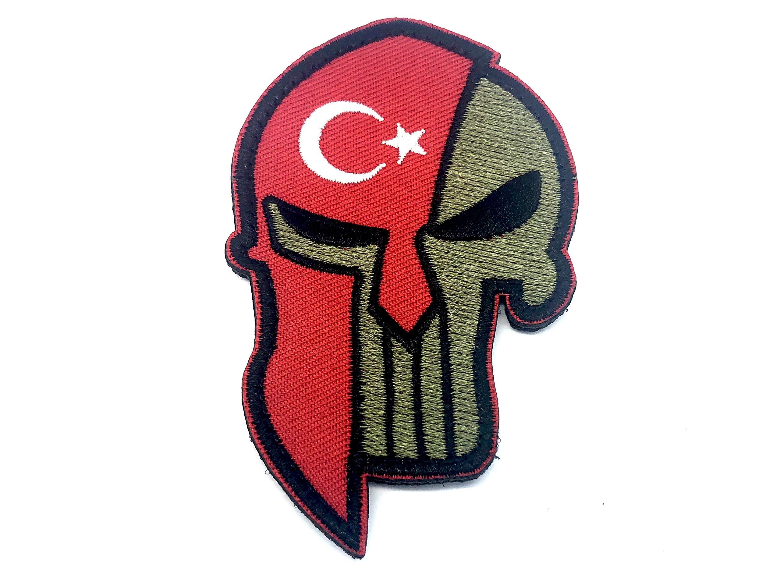 Patch Nation Türkische Zenturio-Flagge der Türkei Gestickte Airsoft Klettverschluss-Flecken