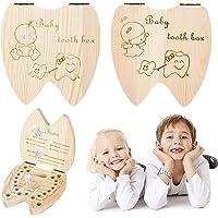 Boîte à Dents pour enfants, XiYee 2 PCS Boîte pour Dents de lait, Boîte à Dents pour garçons et filles, Cadeau pour…