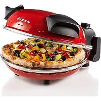 Ariete 909 Four à Pizza, 400 Degrés, Cuit une Pizza en 4 minutes, Plaque en Pierre Réfractaire de 33 cm de Diamètre…