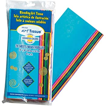 Spectra 20-Piece 50 x 76 cm Paper Bleeding Tissue, Assorted Colours