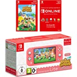 Nintendo Switch Lite (Coral) Animal Crossing New Horizons + NSO 3 months