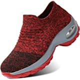 Womens Trainers Running Walking Shoes Mesh Slip-on Lightweight Breathable Soft Sole Shoes