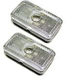 AB Tools Mini Front Marker Light for Trailer, Caravan White Clear Lamp PAIR TR146