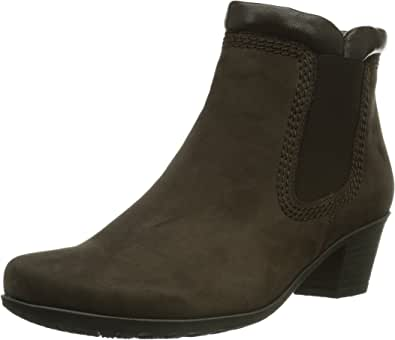Gabor Sound 2 Nubuck Zip-Up Chelsea Ankle Heel Womens Boots