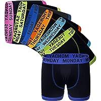 Sock Stack Days of The Week Boxer Shorts 7 Pairs Men's Comfort Fit Boxers Underwear Black Boxershort Trunks
