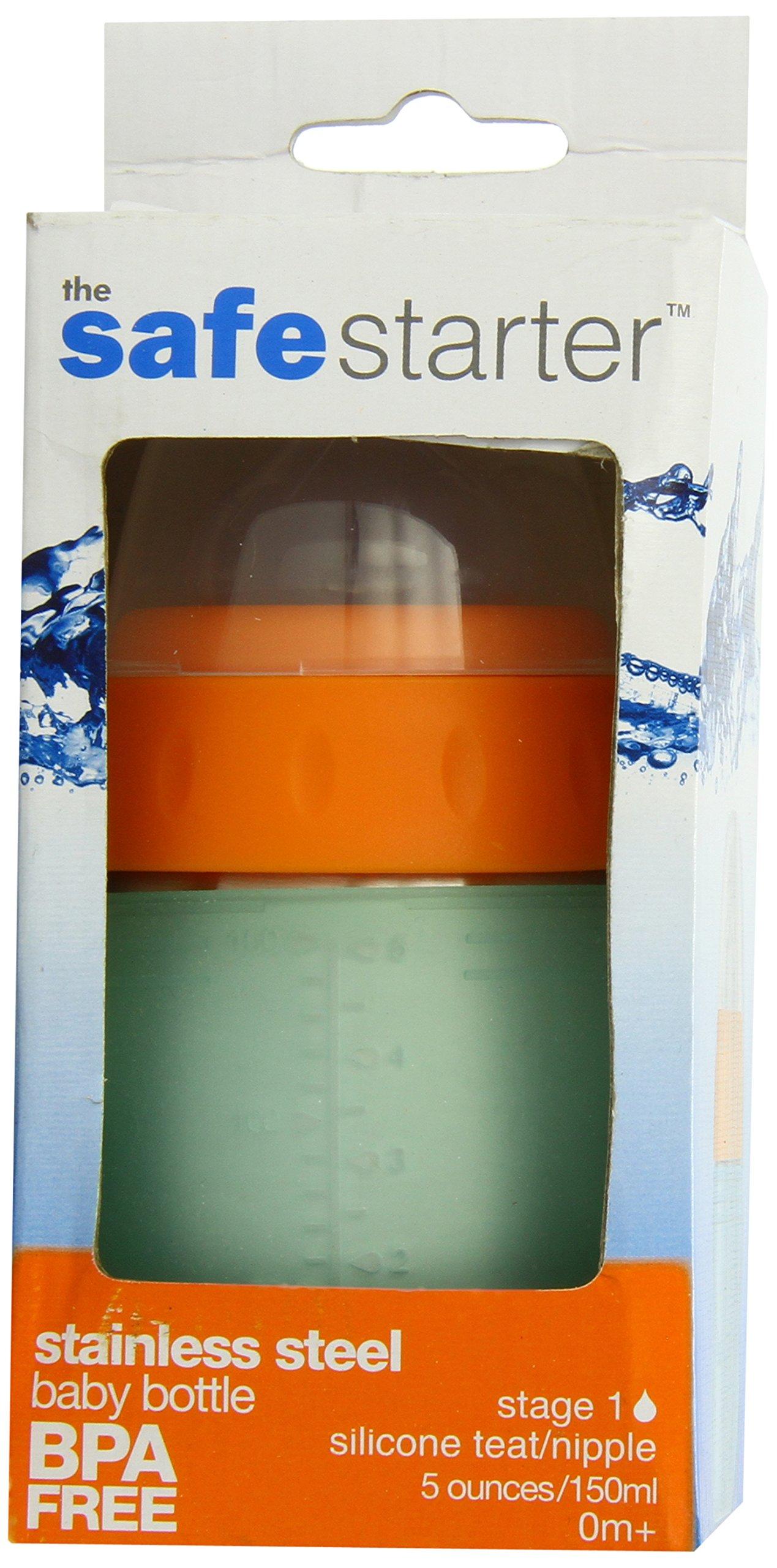 Kid Basix, Biberon in acciaio inox/ silicone - 150 ml