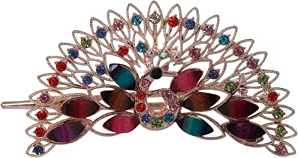 TIED RIBBONS Peacock Hair Bands/Hair Clips/Hair Combs/Hair Pins/Hair Jewellery for Women(Multicolor, Metal)