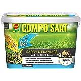 COMPO SAAT Rasen-Neuanlage-Mix,  Mischung aus Rasensamen und Rasendünger mit 3 Monate Langzeitwirkung, 2,2 kg, 100 m²