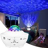 Proyector Estrellas,Proyector de Luz Estelar,Lampara Estrellas Proyector con Bocina Bluetooth,10 Modos Proyector LED Color Re