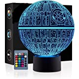 3D Ilusión óptica Lámpara LED Luz de noche Deco LED Lámpara 7 colores de control remoto con Acrílico Plano & ABS Base & Carga