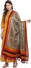 Applecreation Women's Khadi Silk Dupatts with jhallar (freesize_Multi-Coloured_KHDPT105B)