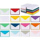 """140 ظرف صغير مع بطاقات ملاحظات بيضاء فارغة، مغلفات صغيرة 4 """"× 2.7"""" لبطاقات العمل وبطاقات الهدايا (ألوان متنوعة)"""