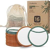 Coton Démaquillant Lavable Bio, 16pcs Disques Démaquillants Lavables en Coton Bambou Tampon Démaquillant Réutilisable…