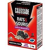 Caussade CARSPTBF150 Rat & Souris | Pat'Appât Espèces Résistantes | Habitation Lieux Secs et Humides | 150g | 15 Pâtess | 1 S