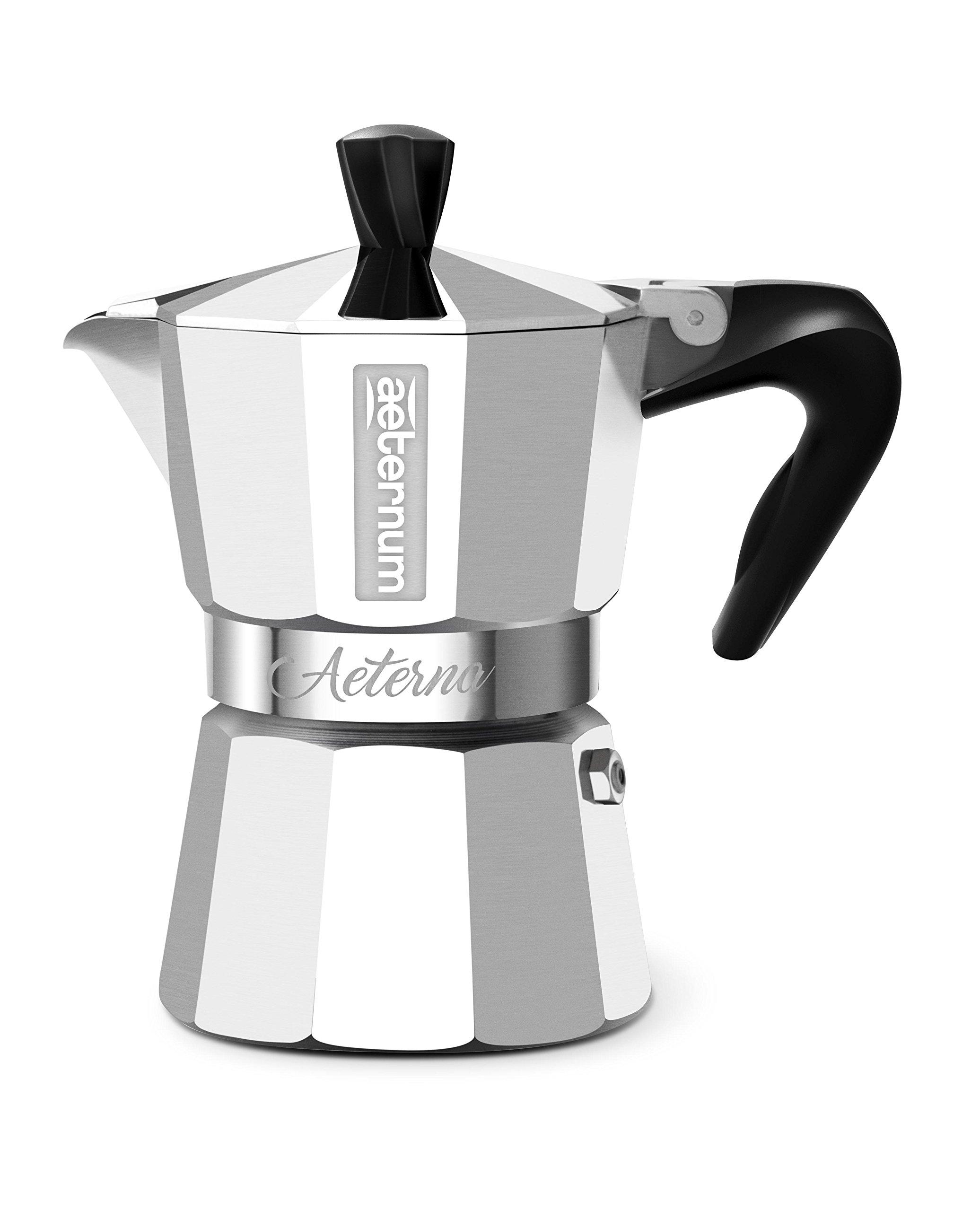 Bialetti 0005091 Espressokocher Aeterna für 1 Tasse, Aluminium, Silber, 30 x 20 x 15 cm