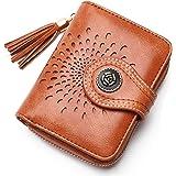 APHISON Damen Geldbörse Portemonnaie Kleine Geldbeutel Frauen RFID Schutz Wallets Bifold Reißverschluss PU Leder Mädchen Gesc