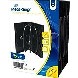 MediaRange BOX35-8 Caja transparente para CD 8discos Negro funda para discos ópticos - Fundas para discos ópticos (Caja trans