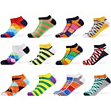 WeciBor Calcetines cortos Hombre Estampados Hombres Ocasionales Calcetines Divertidos Impresos de Algodón de Pintura de Arte