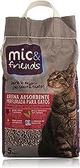 Mic&Friends - Arena Absorbente Perfumada para Gatos - 5 Kg