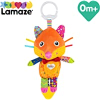 LAMAZE Flannery the Fox Baby Toy, Clip On Baby Pram Toy & Pushchair Toy with Baby Teether, Newborn Sensory Toy for Babies Boys & Girls From 0 - 6 Months