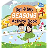 Zayn and Zoey Seasons Activity Book with Stickers - Variety of fun activities for kids - Children's Early Learning Educationa