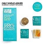 Only Leaf Detox Kahwa Green Tea, 27 Tea Bags (25 Tea Bags + 2 Free Exotic Samples + 2 Free Honey Sachets)