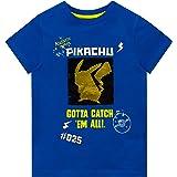 Pokemon Camiseta de Manga Corta para niños Pikachu