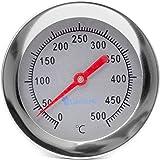 Thermomètre four à bois / four à pizza / four en pierre / 400°C / 30cmAnalogique, bimétallique.