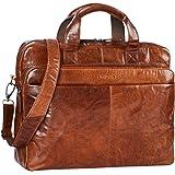 STILORD 'Verus' Vintage Bolso Bandolera Piel Grande Hombres para portátil 14 Pulgada/Bolso Bandolera/College Bag/Estudiantes