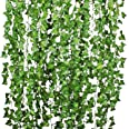 Lierre Artificielle Plantes Guirlande Vigne - YQing 12 Pcs 84 Ft Exterieur Lierre Artificielle Guirlande Décoration pour Célé