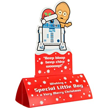 Hallmark Star Wars Christmas Card 'Star Wars Shelfie' - Medium