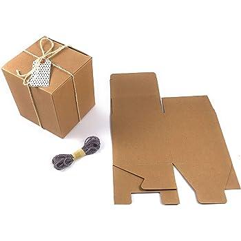 20x KRAFTPAPIER natur Geschenkkarton Geschenk Schachtel
