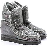 Mou Botas Eskimo Boot Wedge Antique Silver