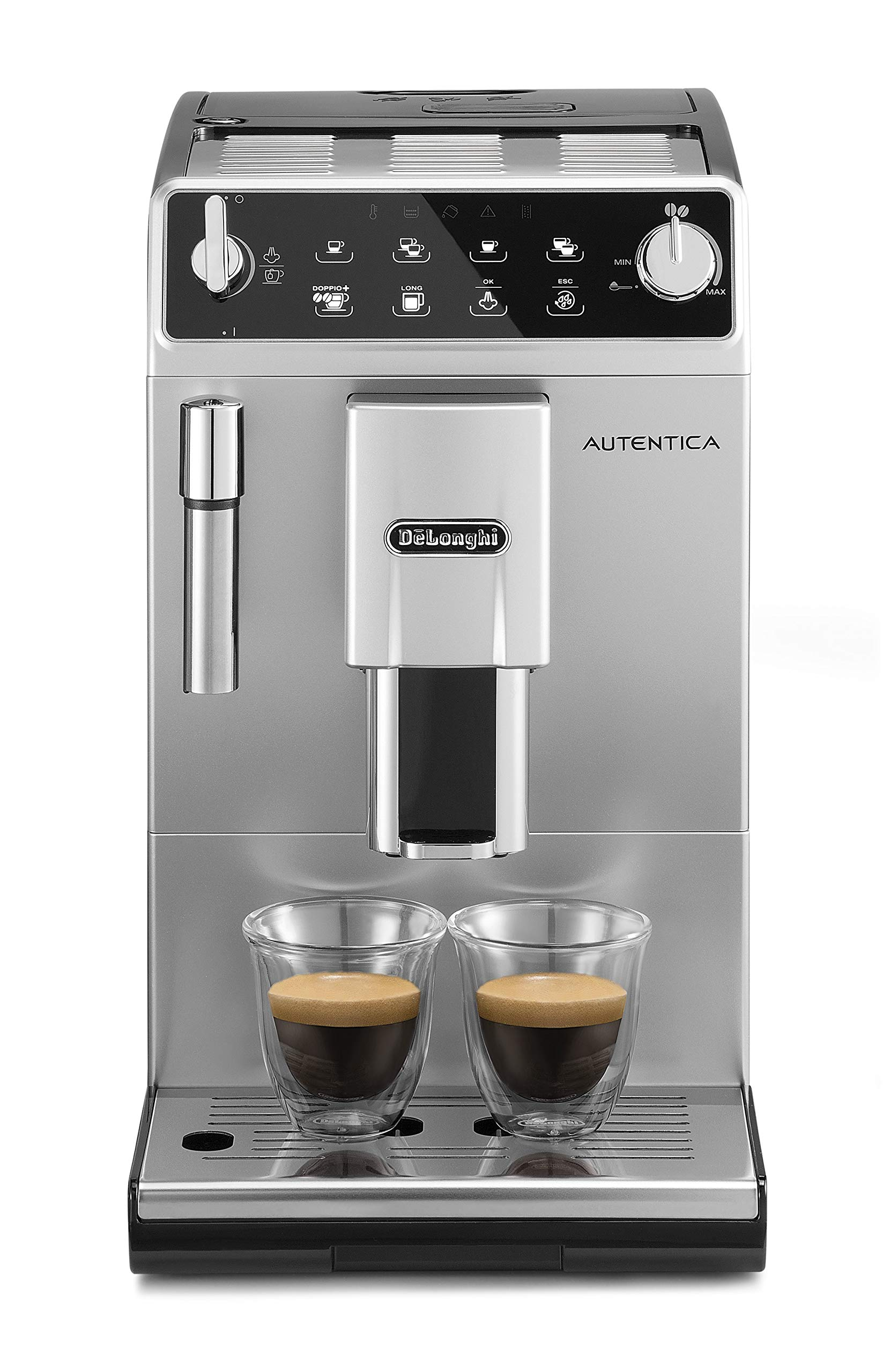 81Cg5mYhKCL - De'Longhi Autentica Cappuccino, Fully Automatic Bean to Cup Coffee Machine, Espresso Maker, ETAM29.660.SB, Silver and…