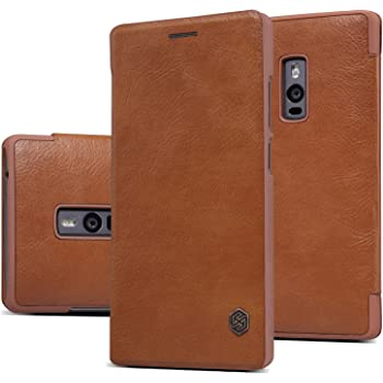 Nillkin Qin Royal Leather Bumper Flip Case Cover Case For Oneplus Two / One Plus Two (Brown)