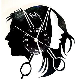 Amazon De Spezial Holz Wand Uhr Friseur Geschenk Schere Lustige