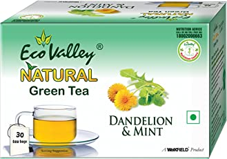 Eco Valley Natural Green Tea, Dandelion & Mint, 30 Tea Bags