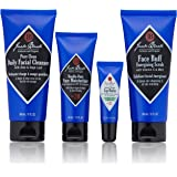 Jack Black - Skin Saviors Set - Pure Clean Daily Facial Cleanser, Face Buff Energizing Scrub, Double Duty Face Moisturizer SP