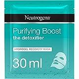Neutrogena Hydrating Face Mask Sheet, The Detoxifier, Purifying Boost Hydrogel Recovery, 30ml
