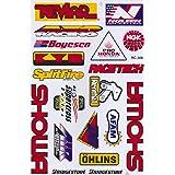 JAB Vinylklistermärke klistermärke Sponsorer Tuning Motorcykel Auto Rally 1 ark 26,5 x 17,5 cm (variant 7)