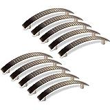 10 x Meubelgreep DICO Boorgatafstand 96 mm roestvrij staal optiek Gebogen handgreep van SOTECH